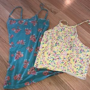 Two Floral Tanks